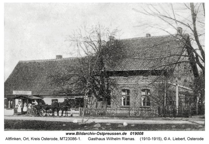 Alt Jablonken, Gasthaus Wilhelm Rienas