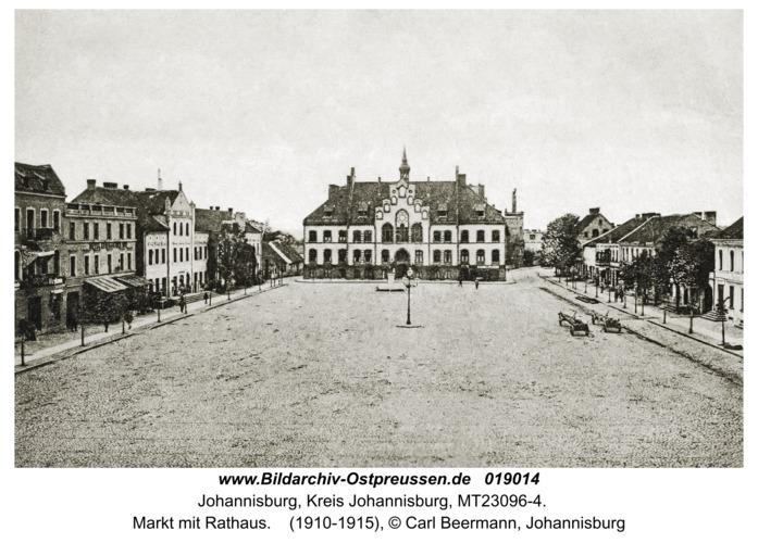 Johannisburg, Markt mit Rathaus