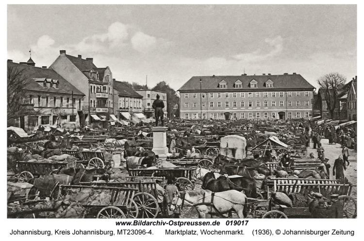 Johannisburg, Marktplatz, Wochenmarkt