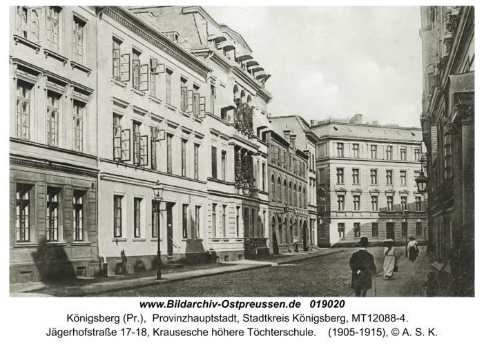 Königsberg, Jägerhofstraße, Krausesche höhere Töchterschule