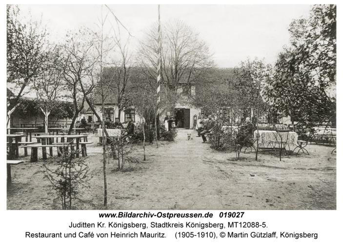 Juditten Kr. Königsberg, Restaurant und Café von Heinrich Mauritz