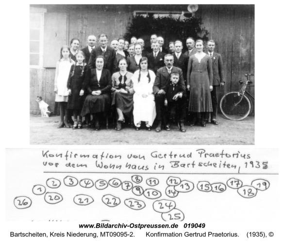 Bartscheiten, Konfirmation Gertrud Praetorius
