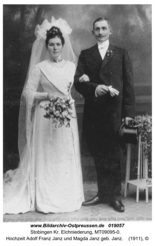 Stobingen, Hochzeit Adolf Franz Janz und Magda Janz geb. Janz