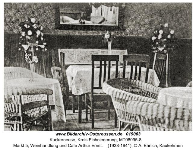 Kaukehmen, Markt 5, Weinhandlung und Cafe Arthur Ernst