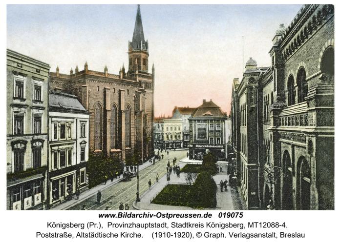 Königsberg, Poststraße, Altstädtische Kirche