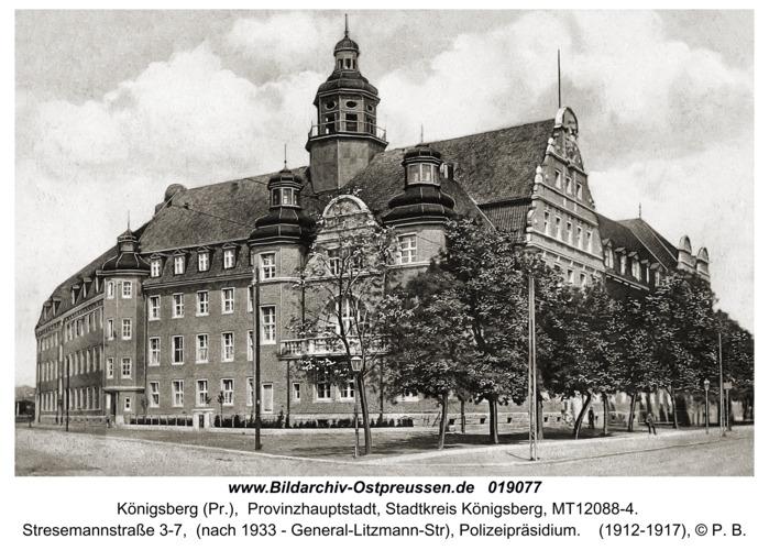 Königsberg, Stresemannstraße (nach 1933 - General-Litzmann-Str), Polizeipräsidium