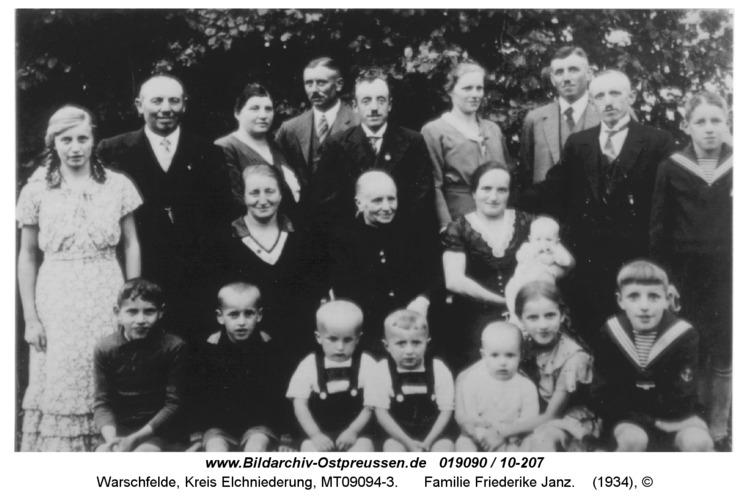 Warschfelde, Familie Friederike Janz