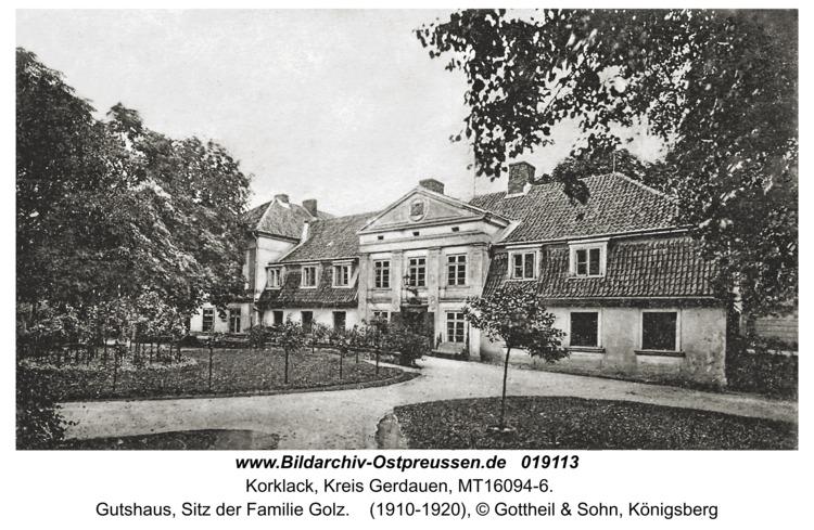 Korklack, Gutshaus, Sitz der Familie Golz