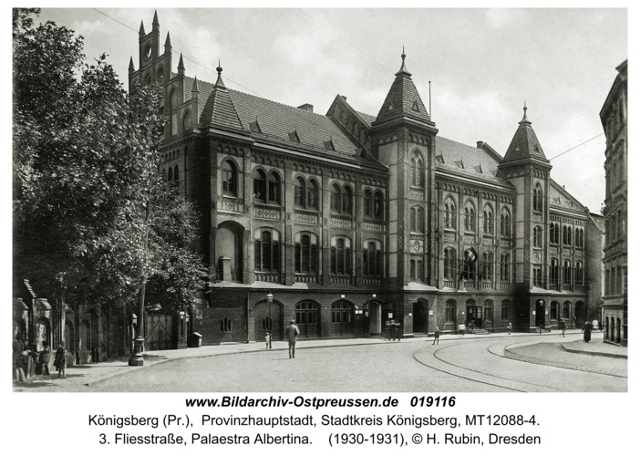 Königsberg, 3. Fliesstraße, Palaestra Albertina
