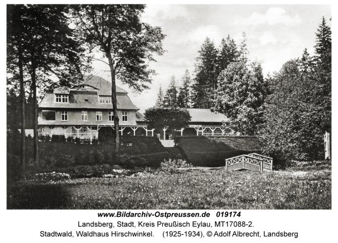 Landsberg, Stadtwald, Waldhaus Hirschwinkel