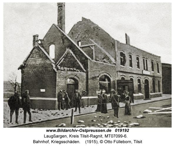 Laugßargen, Bahnhof, Kriegsschäden