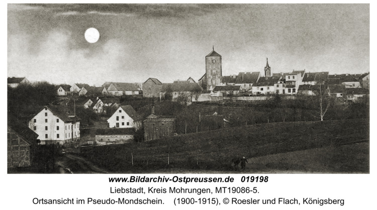 Liebstadt, Ortsansicht im Pseudo-Mondschein