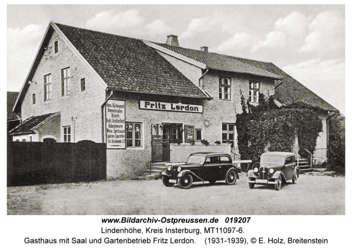 Lindenhöhe, Gasthaus mit Saal und Gartenbetrieb Fritz Lerdon