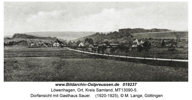 Löwenhagen, Dorfansicht mit Gasthaus Sauer