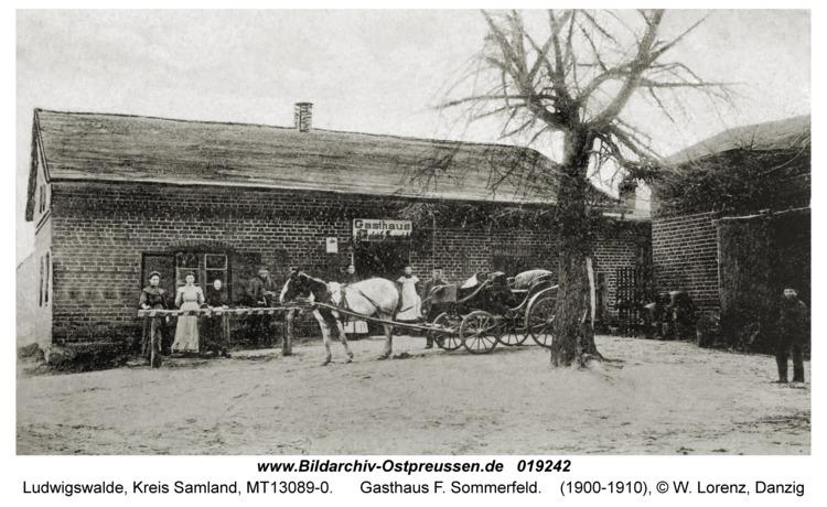 Ludwigswalde Kr. Samland, Gasthaus F. Sommerfeld