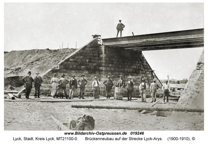 Lyck, Brückenneubau auf der Strecke Lyck-Arys