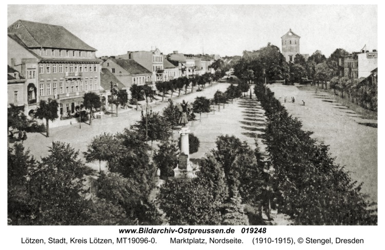 Lötzen, Marktplatz, Nordseite