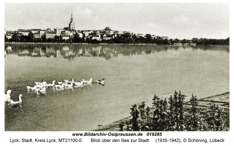 Lyck, Blick über den See zur Stadt