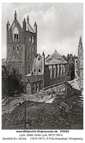 Lyck, Zerstörte Ev. Kirche