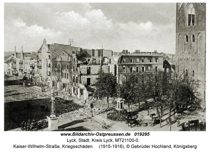 Lyck, Kaiser-Wilhelm-Straße, Kriegsschäden