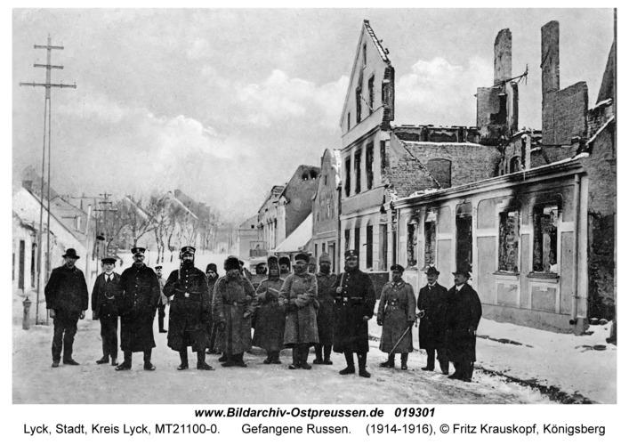 Lyck, Gefangene Russen