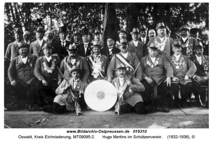 Oswald, Hugo Mertins im Schützenverein