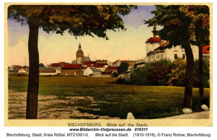Bischofsburg, Blick auf die Stadt