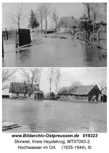 Skirwiet, Hochwasser im Ort