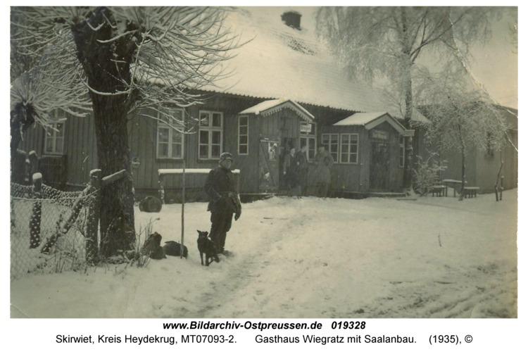 Skirwiet, Gasthaus Wiegratz mit Saalanbau