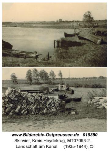 Skirwiet, Landschaft am Kanal