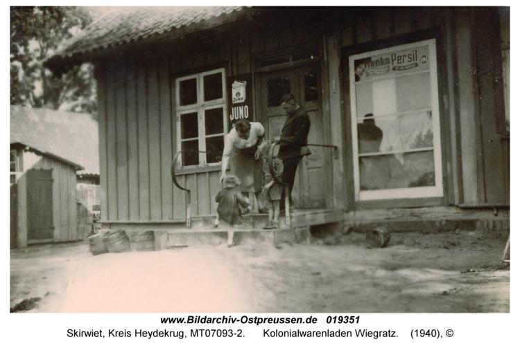 Skirwiet, Kolonialwarenladen Wiegratz