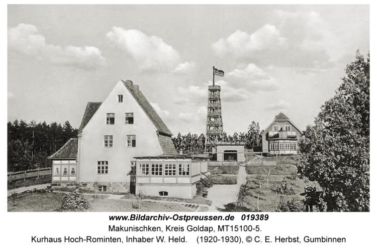 Makunischken, Kurhaus Hoch-Rominten, Inhaber W. Held