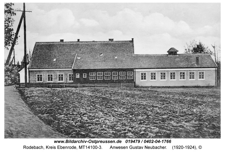 Rodebach fr. Enzuhnen, Anwesen Gustav Neubacher