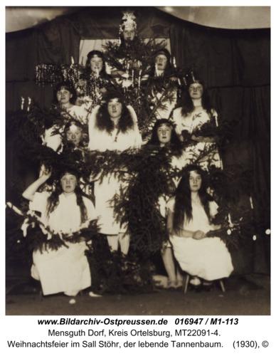 Mensguth, Weihnachtsfeier im Sall Stöhr, der lebende Tannenbaum