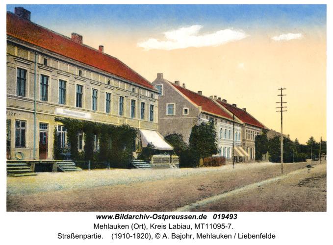 Mehlauken (Ort), Straßenpartie