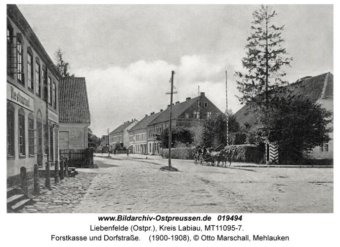 Mehlauken (Ort), Forstkasse und Dorfstraße