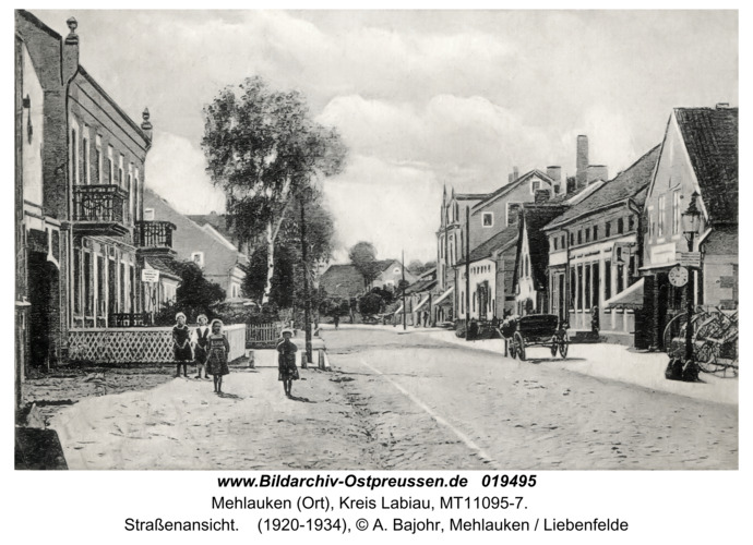 Mehlauken (Ort), Straßenansicht