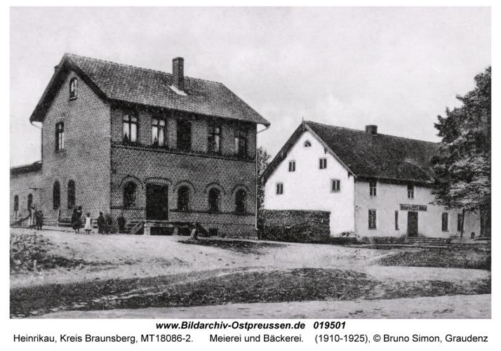 Heinrikau, Meierei und Bäckerei