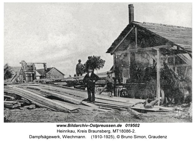 Heinrikau, Dampfsägewerk, Wiechmann