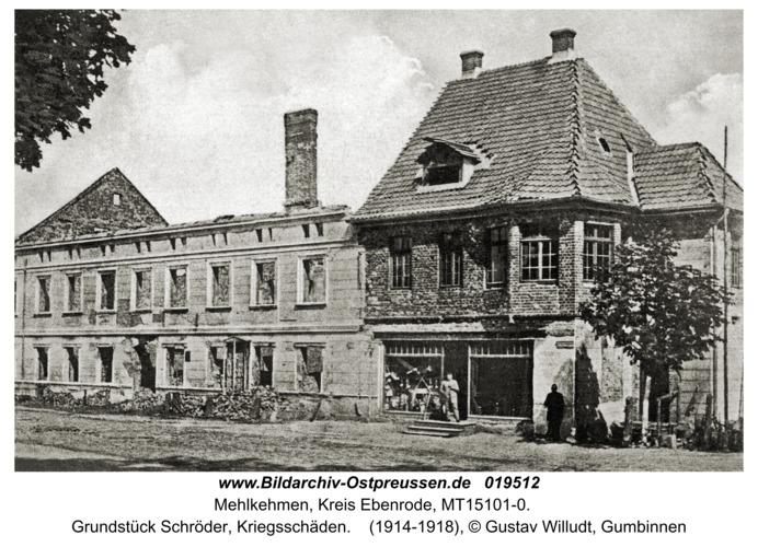 Mehlkehmen, Grundstück Schröder, Kriegsschäden
