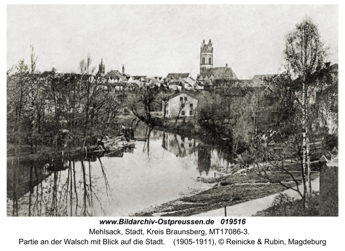 Mehlsack, Partie an der Walsch mit Blick auf die Stadt
