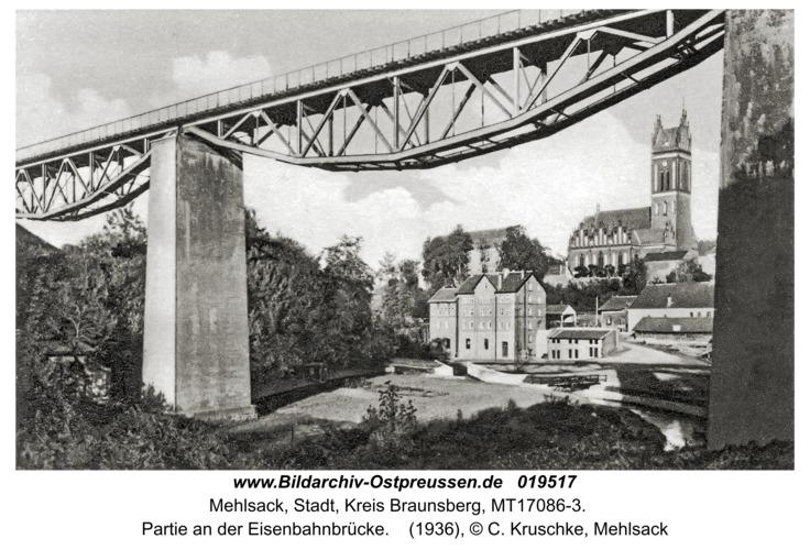 Mehlsack, Partie an der Eisenbahnbrücke