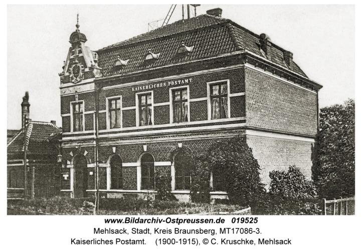 Mehlsack, Kaiserliches Postamt