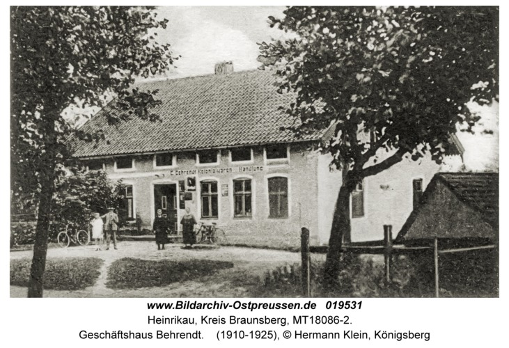 Heinrikau, Geschäftshaus Behrendt