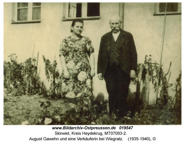 Skirwiet, August Gawehn und eine Verkäuferin bei Wiegratz