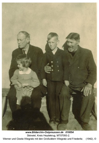Skirwiet, Werner und Gisela Wiegratz mit den Großvätern Wiegratz und Friederitz