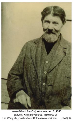 Skirwiet, Karl Wiegratz, Gastwirt und Kolonialwarenhändler