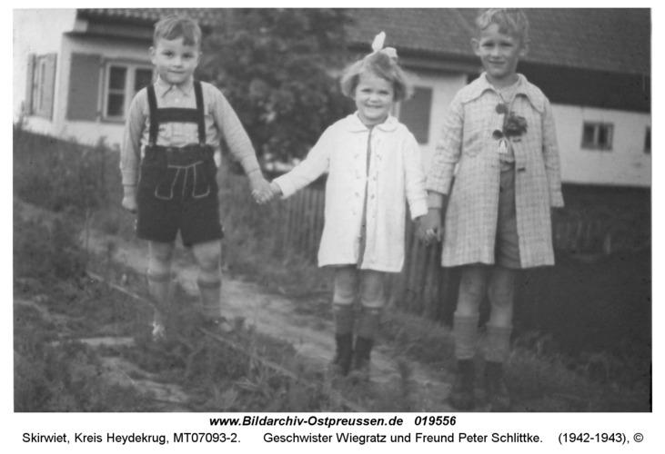 Skirwiet, Geschwister Wiegratz und Freund Peter Schlittke