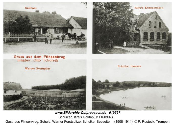 Spechtsboden fr. Schuiken, Gasthaus Flinsenkrug, Schule, Warner Forstspitze, Schuiker Seeseite