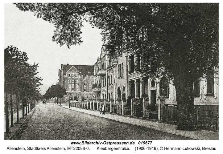 Allenstein, Kleebergerstraße